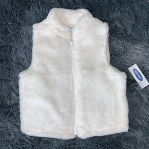 🆕 Old Navy | Off-White fleece zipper vest
